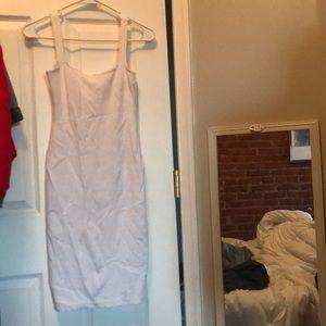 American apparel white bodycon midi dress S